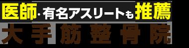 伏見区・伏見桃山で整体なら「大手筋整骨院」 ロゴ